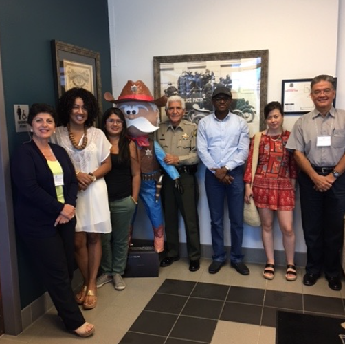 Visitors from Columbia visit Mexican/American border and Sheriff Tony Estrada