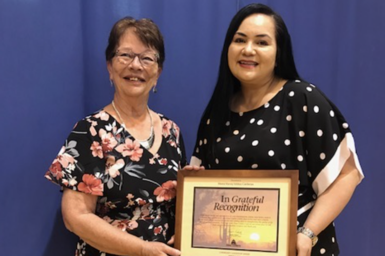 Maria Vianey Valdez-Cardenas (our treasurer) honored with the Community and Student Leadership Awards.